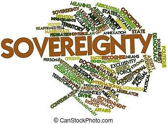 Sovereignty - Abstract word cloud for Sovereignty with...