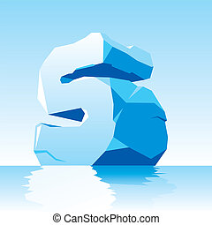 ice letter S - vector image of ice letter S