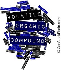 Volatile organic compound - Abstract word cloud for Volatile...