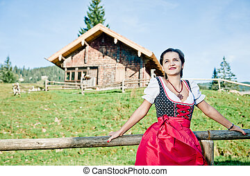 Woman in the Alps