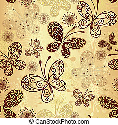 Gold-brown seamless pattern - Gold and brown seamless...