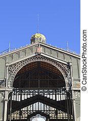 Borne Market facade. Barcelona, Spain.