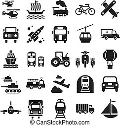 Transport icons - Collection of transport icons