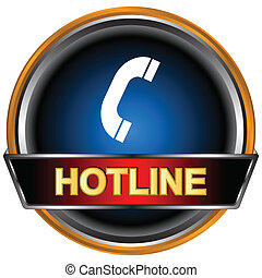 Hotline logo - Blue hotline logo on a white background