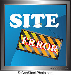 Site error icon - New site error icon in the monitor