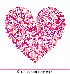 heart of pink hearts