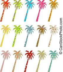 patterned palms
