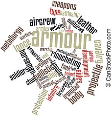 Word cloud for Armour - Abstract word cloud for Armour with...