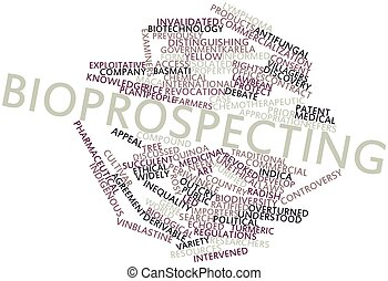 Bioprospecting - Abstract word cloud for Bioprospecting with...