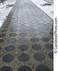 winter pavement