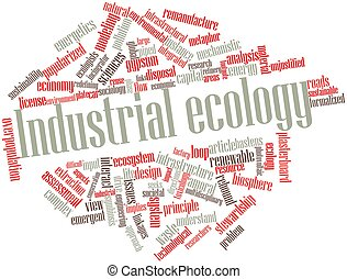 Industrial ecology - Abstract word cloud for Industrial...