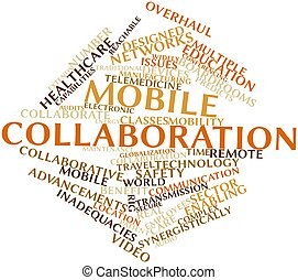 Mobile collaboration - Abstract word cloud for Mobile...