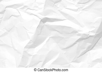 crumpled paper 2 - Blank white crumpled sheet paper. Texture...