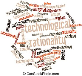 Technological rationality - Abstract word cloud for...