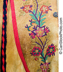 Closeup Native Clothing - Closeup view of a floral pattern...