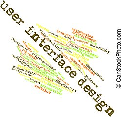 User interface design - Abstract word cloud for User...