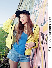 Urban Teenager Girl Young Adult Woman