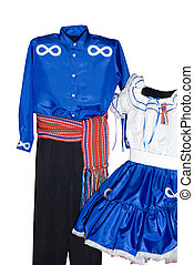 Isolated Metis Clothes - Male and female metis clothing,...