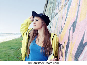 Urban Teenager Girl Young Romantic Woman