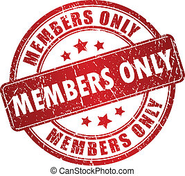 Members only vector stamp isolated on white