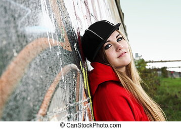 Urban Teenager Young Woman Romantic