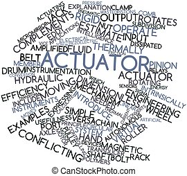 Actuator - Abstract word cloud for Actuator with related...