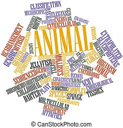 Word cloud for Animal - Abstract word cloud for Animal with...