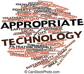Word cloud for Appropriate technology - Abstract word cloud...