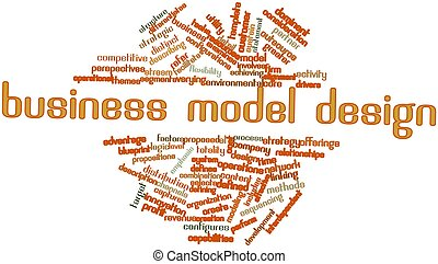 Word cloud for Business model design - Abstract word cloud...