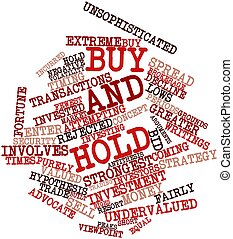 Buy and hold - Abstract word cloud for Buy and hold with...