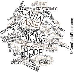 palabra, nube, capital, ventaja, valorar, modelo