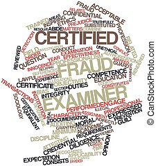 Word cloud for Certified Fraud Examiner - Abstract word...