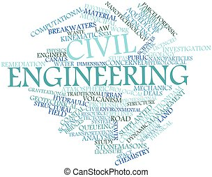 Civil engineering - Abstract word cloud for Civil...