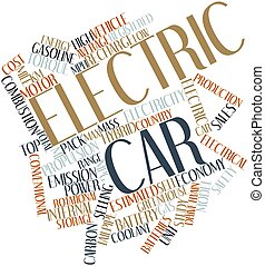 Electric car - Abstract word cloud for Electric car with...