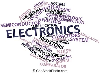 Electronics - Abstract word cloud for Electronics with...
