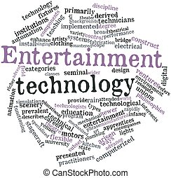 Word cloud for Entertainment technology - Abstract word...