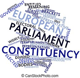 European Parliament constituency - Abstract word cloud for...
