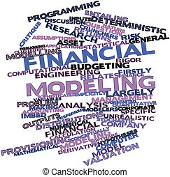 Word cloud for Financial modeling - Abstract word cloud for...