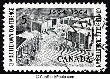 Postage stamp Canada 1964 Fathers of Confederation Memorial...