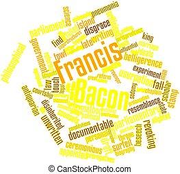palabra, nube, Francis, tocino
