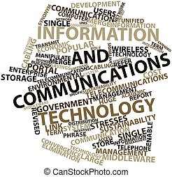 Word cloud for Information and communications technology -...