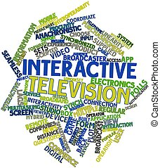 Interactive television - Abstract word cloud for Interactive...