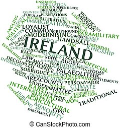 Ireland - Abstract word cloud for Ireland with related tags...