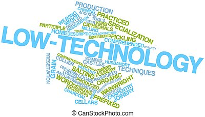 Word cloud for Low-technology - Abstract word cloud for...
