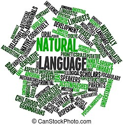Word cloud for Natural language - Abstract word cloud for...