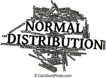 Word cloud for Normal distribution - Abstract word cloud for...