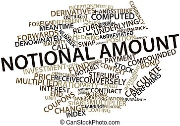 Notional amount - Abstract word cloud for Notional amount...