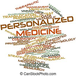 Word cloud for Personalized medicine - Abstract word cloud...