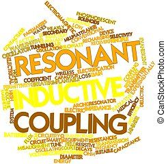Resonant inductive coupling - Abstract word cloud for...