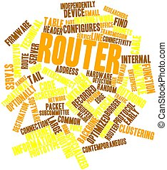 Word cloud for Router - Abstract word cloud for Router with...